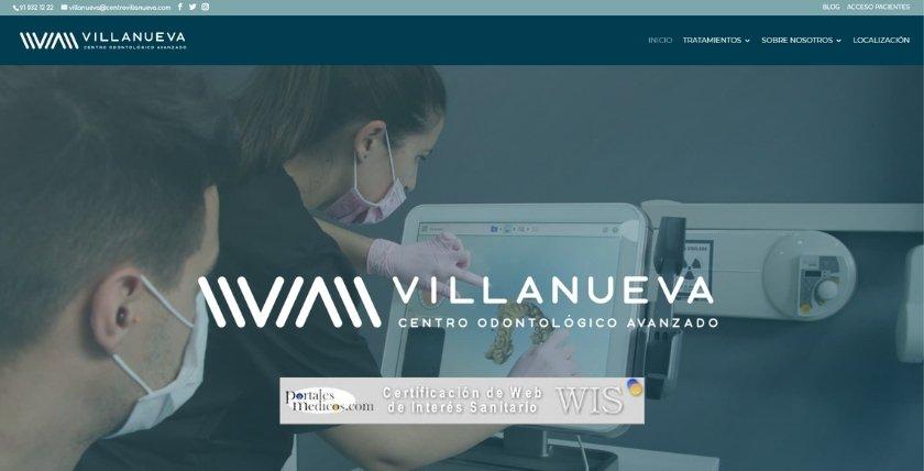 Nuestro sitio centrovillanueva.com obtiene el certificado de Web de Interés Sanitario